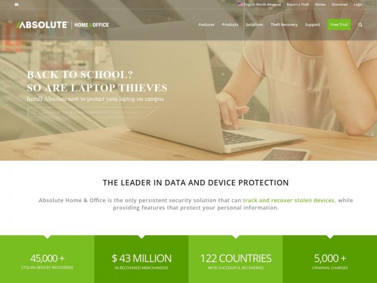 Absolute Software screenshot